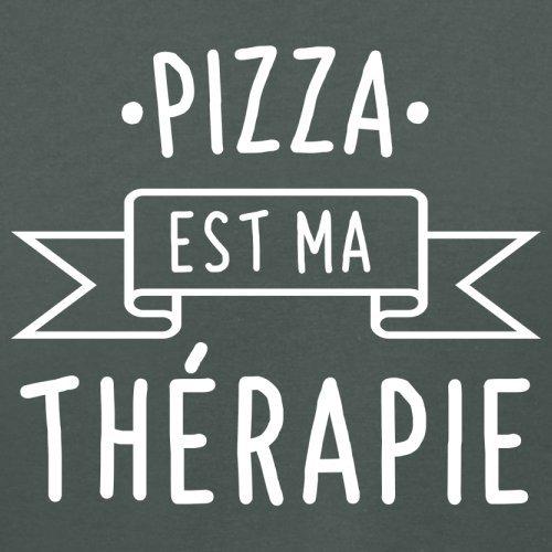 Une pizza est ma thérapie - Femme T-Shirt - 14 couleur Gris Foncé