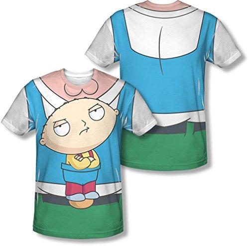 Family Guy - Herren Stewie Träger (vorne / hinten Print) T-Shirt, XX-Large, White (Stewie T-shirt Männer)