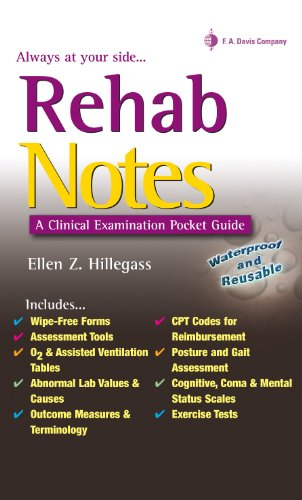 Rehab Notes A Clinical Examination Pocket Guide: Evaluation and ...