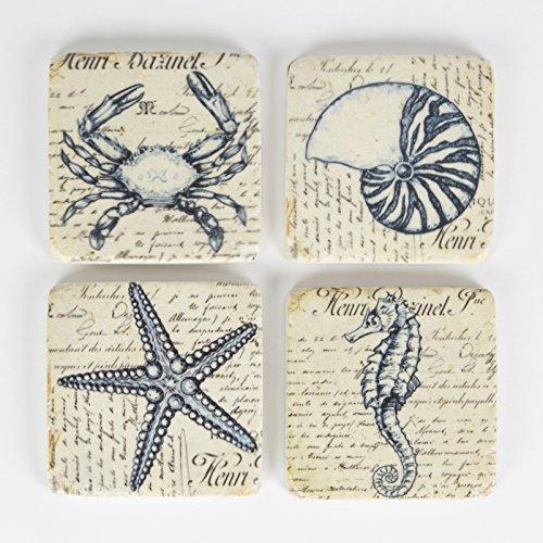 sass-belle-nautico-rustico-azulejos-juego-de-4-vintage-mar-criatura-posavasos-10-x-10-cm