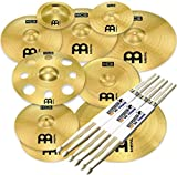 Meinl Cymbals HCS-SCS1 Ultimate Cymbal Set Beckenset 9 teilig + KEEPDRUM Drumsticks 3 Paar