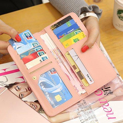 Sacchetto della carta piegata signore borsa femminile Lungo Tratto Di Piccolo dolce studenti Hasp Portafoglio carta del pacchetto ( colore : Nero ) Grigio scuro