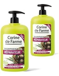 Lot de 2 Shampooings Réparateurs pour Cheveux Très Secs ou Abîmés 750 ml