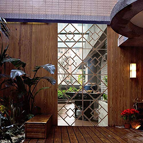 HAIMACX Aufkleber Dekorative Wandaufkleber Tv Kreative 3D Kristall Große DIY Acrylspiegel Wandaufkleber Tv Hintergrund Wohnzimmer Schlafzimmer Spiegel 30 * 30 * 4