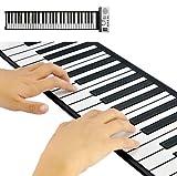 TASTIERA MUSICALE PIANOLA FLESSIBILE ROLL PIEGHEVOLE 61 TASTI PIANOFORTE MIDI