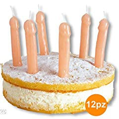 Idea Regalo - TrAdE shop Traesio12 CANDELINE TORTA A FORMA DI PENE PER PARTY FESTA ADDIO AL NUBILATO GADGET SEXY