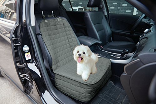 Eleganten Komfort Gesteppt Design% 100Wasserdicht Premium Qualität Bench Autositzschutz, (Ganze Hinten Sitz) für Haustiere-Bindungen zu Stop Abrutschen von Den Bench, Single Front Seat, Grau -