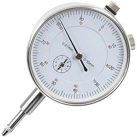Timbertech - Reloj comparador con precisión de 0,01 mm y rango de medición 0-10 mm
