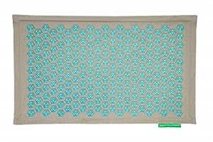 tapis de fleurs soulage les douleurs de dos turquoise. Black Bedroom Furniture Sets. Home Design Ideas