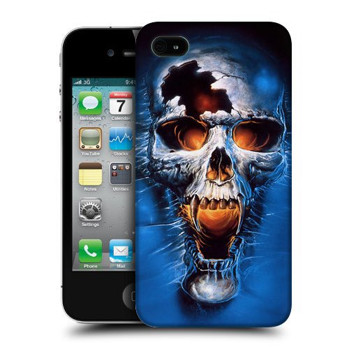 rrid Skull Snap-on Hard Back Case Cover for Apple iPhone 4 / 4S (Halloween-cartoon-artwork)