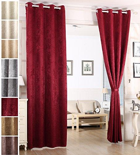 Woltu tenda oscurante tende drappeggi opache con occhielli velluto stampato termica isolante pesante finestra soggiorno camera da letto 1 pannello
