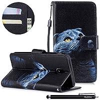 HUDDU Bunt Muster Handyhülle Samsung Galaxy J3 2017 Leder Hülle Flip Wallet Case Ledertasche im Bookstyle mit... preisvergleich bei billige-tabletten.eu