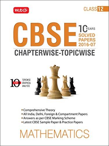 10 Years CBSE Chapterwise-Topicwise: Mathematics