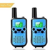 Walkie-Talkie, Spielzeug für Jungen 2-Wege-Radio (446MHz Walkie-Talkie für Kinder, Mädchen, Wandern, Camping, Outdoor-Aktivitäten blau