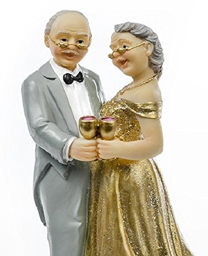 Height Figure Topper Boyfriends 50 years Wedding Wedding Anniversary Wedding Cake decoration, 12 cm