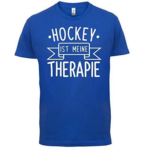 Hockey ist meine Therapie - Herren T-Shirt - 13 Farben Royalblau