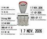 Trodat Classic 1010 ISO Dater - gebrauchsfertiger Datumsstempel im Blister, Schrifthöhe 4 mm