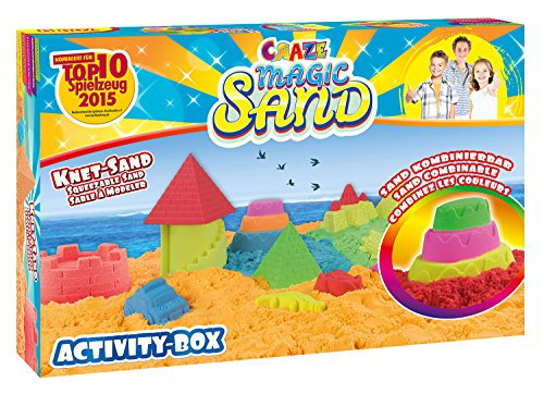 *Craze 52700 – Magic Sand Activity-Box., ca. 700g Sand. Verschiedene Ausführungen. Sortiert*