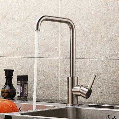 Preisvergleich Produktbild Wasserhahn-Moderne-Centerset-Edelstahl-Küchenarmauren(Gebürstet)