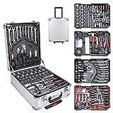 Werkzeugkoffer 729 teilig Alu Werkzeugkasten Werkzeugkiste gefüllt Set abschließbar Werkzeugtasche Werkzeug-Trolley 4 Ebenen Rollkoffer