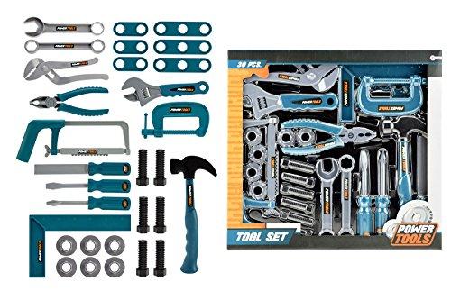 Toi-Toys–Werkzeugset 30-teilig Zubehör für Fahrräder und Fahrzeuge, 38021A, Mehrfarbig