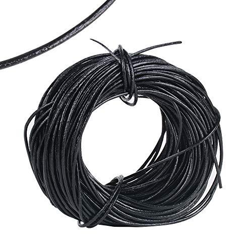20Yard Cuerdas Cuero Redonda 1mm Cordón Hilo Cuero