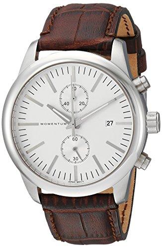 Momentum Men's Analog Japanese-Quartz Watch with Leather Strap 1M-SN26S2C