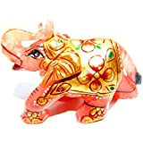 Urancia® Blessing Rose Quartz Gem Stone Elephant Home Decorative Showpiece Attractive Design Pink Quartz Stone Painted Elephant Polishes Rose Quartz Crystal Gemstone Idol Best Gifts Items For Home Decoration Item 262.7Cts