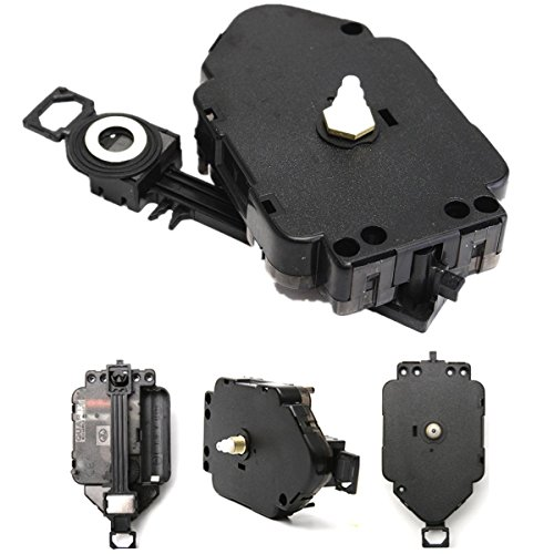 Preisvergleich Produktbild EsportsMJJ Black Replacement DIY Quartz Clock Pendel Movement Mechanismus Motor & Hanger