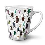 Wellcoda Farbig Bugs Weiß Keramisch Latte Becher 12 oz
