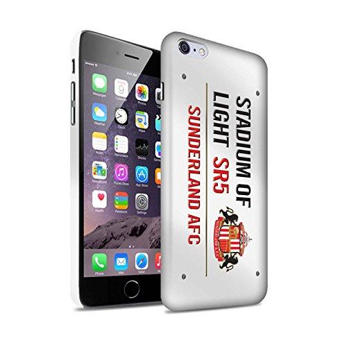 Offiziell Sunderland AFC Hülle / Matte Snap-On Case für Apple iPhone 6+/Plus 5.5 / Pack 6pcs Muster / SAFC Stadium of Light Zeichen Kollektion Weiß/Rot