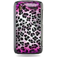 """GRÜV Premium Case - Design """"Rosa Skin Fellfleckenmuster Leopard, Gepard"""" - Qualitativ Hochwertiger Druck Schwarze Hülle - für HTC G14 G18 Sensation XE 4G z710e"""