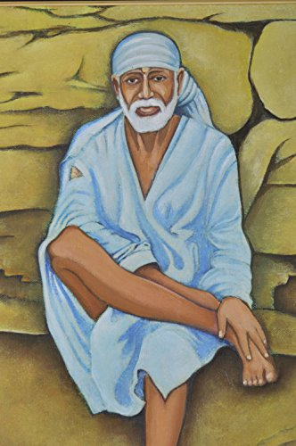 Magnitude-Acrylic-Original-Painting-of-Lord-Shirdi-Sai-Baba-In-Divine-Form-Painting-33-cm-x-23-cm-x-1-cm
