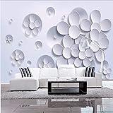 Weaeo Fototapete Wandmalerei Moderne Kunst Vlies Papier 3D Tv Vertraglich Sitzen Weißen Lotus Blumen Große Wandbild Wa