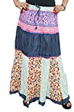 Indiatrendzs Women's Skirts Cotton Navy ...