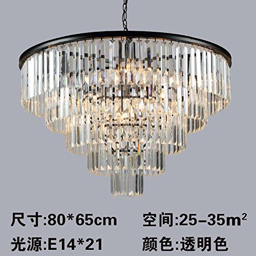 SJUN-American Vintage Lampada Led Europeo Camera Da Letto Soggiorno Illuminazione Lampadario Di Cristallo Creativo,A(80 * 65Cm)