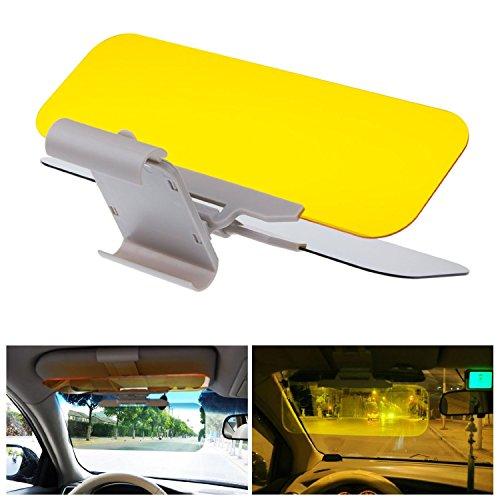 [Neue Version] AlierGo 2 in 1 Auto Blendschutz + Sonnenschutz Frontscheibe Blendscheinwerfer für Tag und Nacht Regen und Nebel