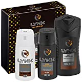 Lynx  Dark Temptation Trio Men's Gift Set with Body Wash, Body Spray and Anti-Perspirant - Gift Set for Him