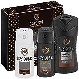 Lynx  Dark Temptation Trio Men's Gift Set with Body Wash, Body Spray and Anti-Perspirant - Gift Set for Him