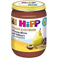 HiPP Pflaume-Birne mit Vollkorn, 6er Pack (6 x 190 g)