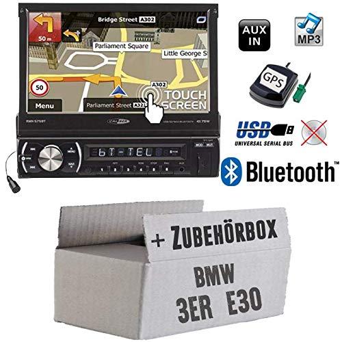 Autoradio Radio Caliber RMN575BT - Navigation   Bluetooth   MP3   USB   SD   7' TFT - Einbauzubehör - Einbauset für BMW 3er E30 - JUST SOUND best choice for caraudio 1982 Auto Stereo