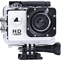 Sport Camera, Rcool Mini 1080P Full HD DV Digital Sport Recorder Waterproof Action Camera Camcorder with Mounting Accessories Kits for Bike Motorcycle Surfing Diving Swimming Skiing etc (White)