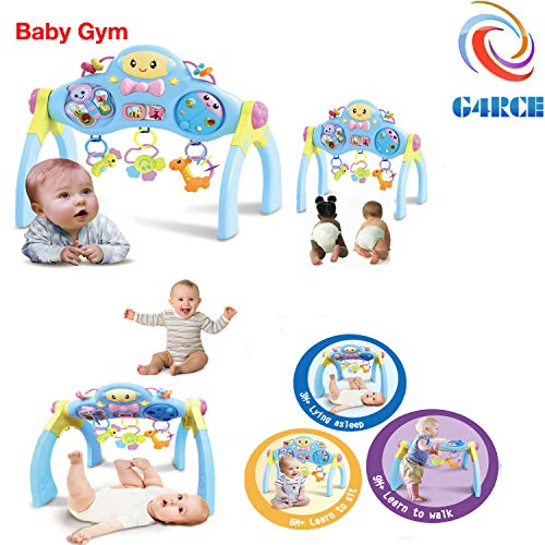 G4RCE® Multi-Function Baby Portable Musical Toy Fitness Frame Preschool Activity Centre & Baby Gym Activity Set Best Gift For Baby Shower (Baby Gym)