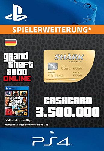 Grand Theft Auto Online | GTA V Whale Shark Cash Card | 3,500,000 GTA-Dollars | PS4 Download Code - deutsches Konto