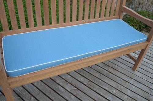 4posti (1.7m/1,7m) cuscino per panchina da giardino di lusso con imbottitura di alta qualità e tessuto–Cuscino solo–azzurro