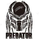 stickers muraux 3d sticker mural sticker mural Predator Movie Comics Affiche de film Autocollant Rétro Intérieur Salon Décor Noir