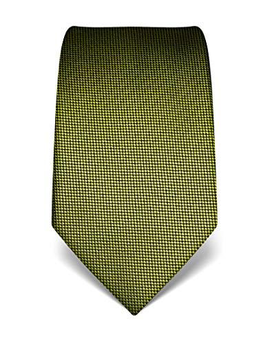 Vincenzo Boretti Corbata de hombre en seda pura, texturada verde