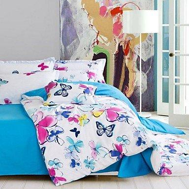 AIURLIFE Cuatro paquetes de ropa de cama algodón tela cruzada completa impresión / cama super familiar , queen