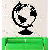 GGWW Wall Sticker Vinyl Decal Earth Globe Geography Travel Decor School (Ig2180)