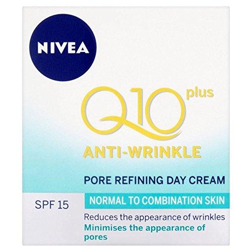 Nivea Visage Q10 Plus Jour Anti rides Pore Refining Cream SPF 15 (50ml) - Paquet de 6